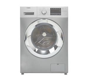 AEG Silver Washing Machine and Samsung Silver Mirror Microwave - For Sale