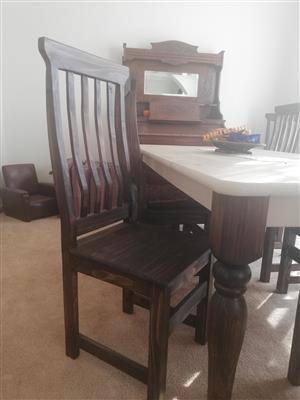 8 Seater Lotters pine dining room set