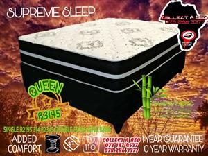 Sleep supreme single bed sets