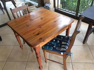Selling beautiful Oregon wood table and chairs