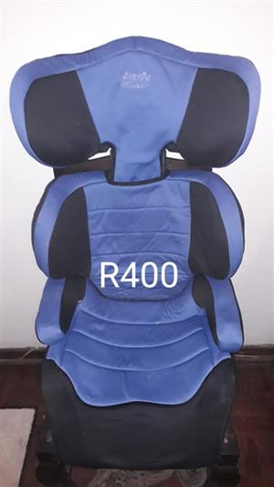 Blue car seat for sale