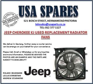 JEEP CHEROKEE KJ USED REPLACEMENT RADIATOR FANS