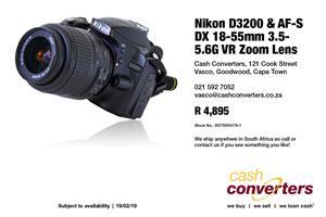 Nikon D3200 & AF-S DX 18-55mm 3.5-5.6G VR Zoom Lens