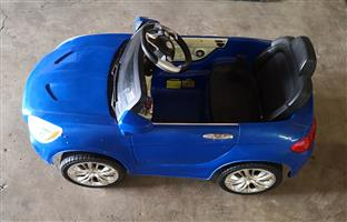 Full scale electric kids car. BLUE.