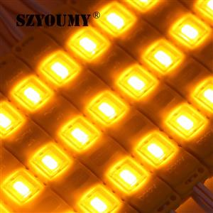 LED Light Modules: Waterproof Injection Moulded with Lens in Yellowish Orange Colour. 12Volts