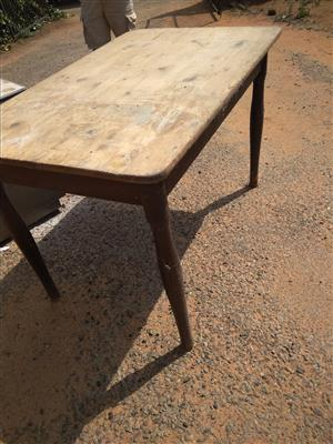 Antique Oregan Pine Kitchen table