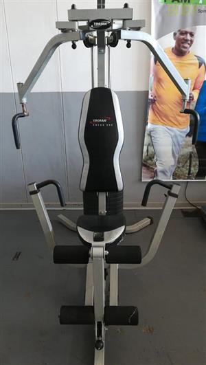 Silver trojan home gym