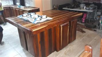 Sleeper wood kitchen counters