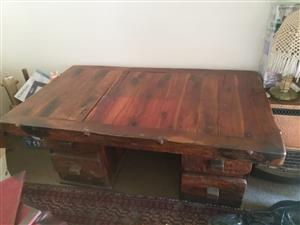 Solid Redwood office table