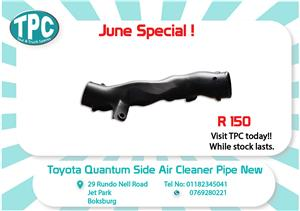Toyota Quantum Side Air Cleaner Pipe New for Sale at TPC