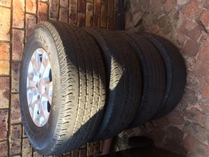 Set of 4 Ford Ranger Rims and Continental tyres