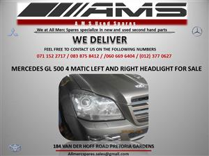 MERCEDES GL 500 4 MATIC LEFT AND RIGHT HEADLIGHT