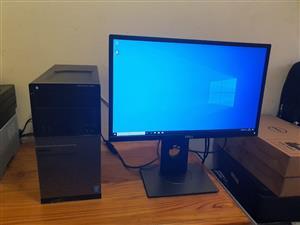 Dell i3 Desktop, 8gig ram, 128gig SSD, 3TB HDD, 22inch screen, R3999