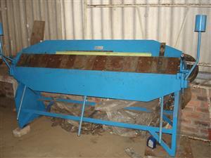Aircraft sheet metal Box and Pan Bender and Guilotine.