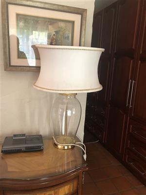 2 glass designer lamps