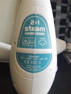 Black and decker 2 in 1 steam cleaner floor and hand held
