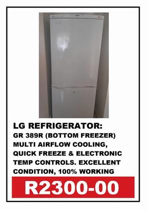 LG REFRIGERATOR GR 389R (BOTTOM FREEZER)