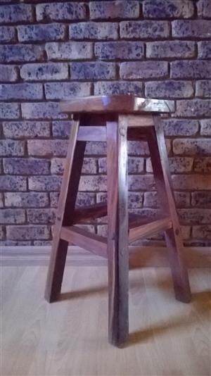 Sleeper wood nook stools For Sale