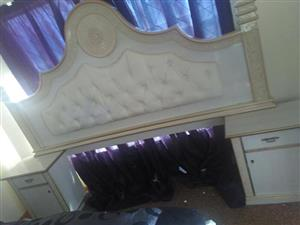 White Victorian headboard for sale