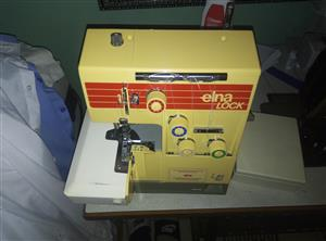 Selling a ELNA lock four thread overlocker sewing machine R1250 etc  heavy duty, semi industrial sewing machine.