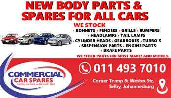 New Body Parts And Spares For All Cars