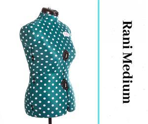 Rani Medium Polka Dot Form - Adjustable Dressmaker Doll / Mannequin / Sewing Doll
