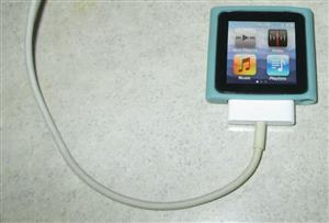 Silver 8gig Apple iPod Nano 6th Gen