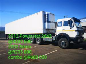 2012 powerstar truck and 2002 Serco fridge trailer