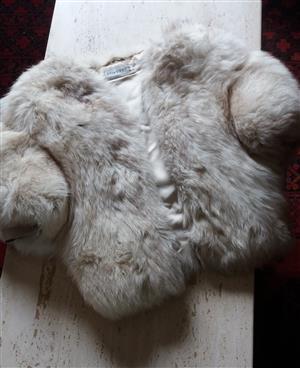 Rare Genuine, Luxurious and Rare Derbers Arctic Fox Fur Sleeveless Gilet/Waistcoat