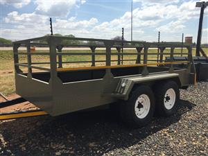 U Make Double Axle Trailer with Sides / Dubbel As Wa Pre-Owned Trailer