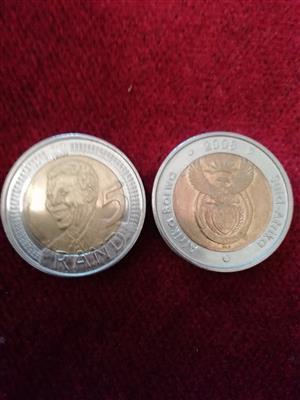 2008 R5 Nelson Mandela Coin for sale  Pretoria - Pretoria East