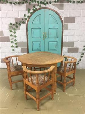 4 Seater oak dining set