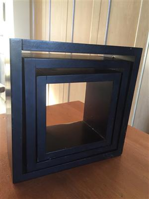 Nest of 3 Wall Cubes / display units - ideal for display purposes - price for all 3 units as a set