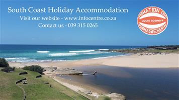 South Coast holiday accommodation available