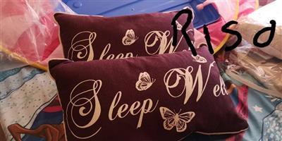 MAROON SLEEP WELL CUSHIONS