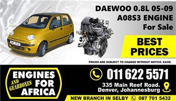 Used Daewoo Matiz A08SE 0.8L 05-09