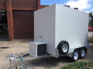 3 meters double axle refrigerated trailer fully galvanized for sale for sale  Other