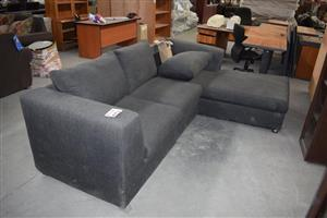 Medium grey, 3 seater L shaped couch for sale