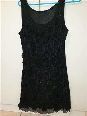 Black summer cocktail dress