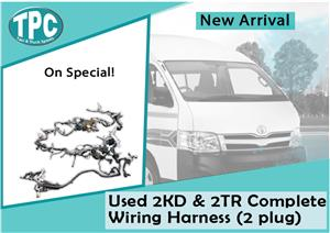 Toyota Quantum Used 2KD & 2TR Complete Wiring Harness (2 plug) for sale at TPC