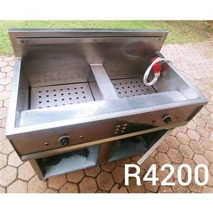 Double steel fryer for sale