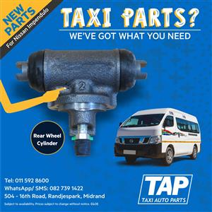 NEW Rear Wheel Cylinder for Nissan NV350 Impendulo - Taxi Auto Parts quality spares - TAP