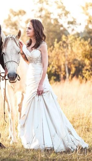 Couture Hand-made Wedding Dress For Sale
