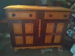 Yellow wood dresser