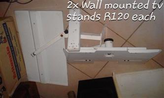 2 Wall mounted tv stands for sale
