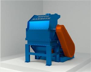 S629 Blue Hippo Hippo Mammoth Hammermill 75kW Electric Motor Bottom Drop / Hippo Mammoth Hammermeul 75kW Elektriese Motor Onder Uitlaat New Implement