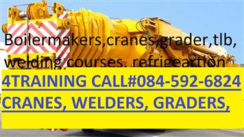 ELECTRICAL COURSES, RIGGING, EXCAVATOR MACHINERY, GRADER, CRANES, DUMP TRUCKS, @0726772368.. BOILERMAKER, WELDING COURSES. TRADE TEST.