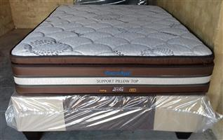 Restonic Posture Style Bamboo Pillow Top  Mattress and Base Set.