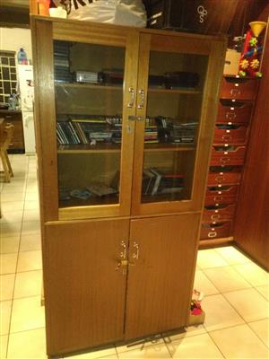 Cupboards and chairs and old stove for sale