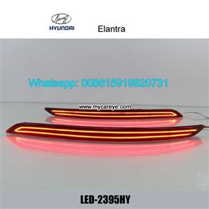 Hyundai Elantra Car LED running Bumper Brake Lights lamps